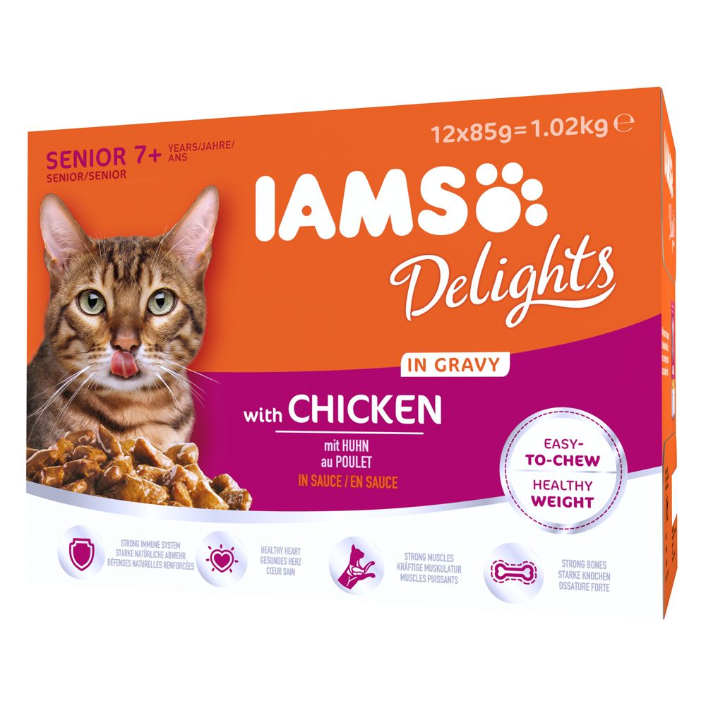 Senior Chicken in Gravy IAMS Delights Wet Cat Food