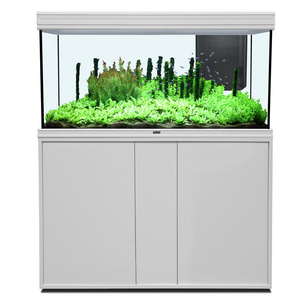 Image of Set acquario + supporto Aquatlantis Fusion 120 x 50 LED - bianco