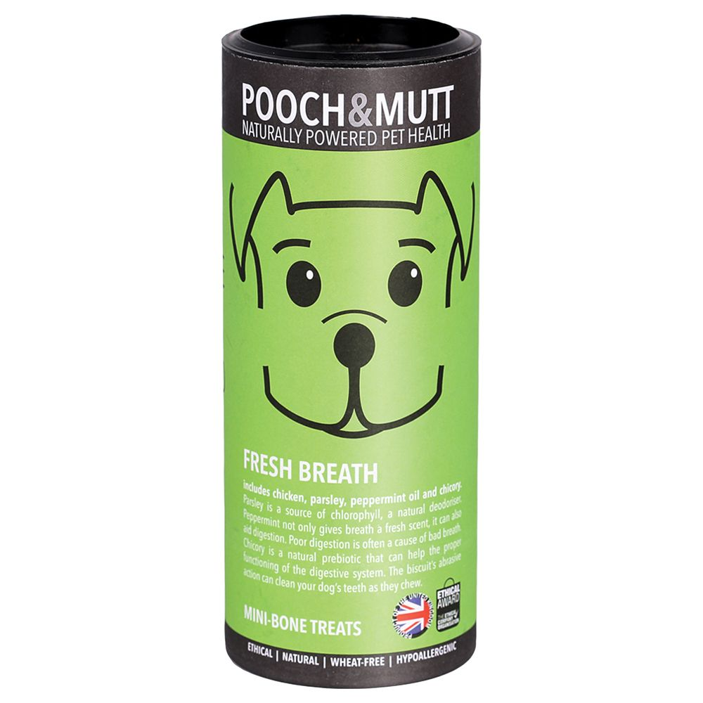 Pooch & Mutt Dog Treats – Fresh Breath - Saver Pack: 3 x 125g