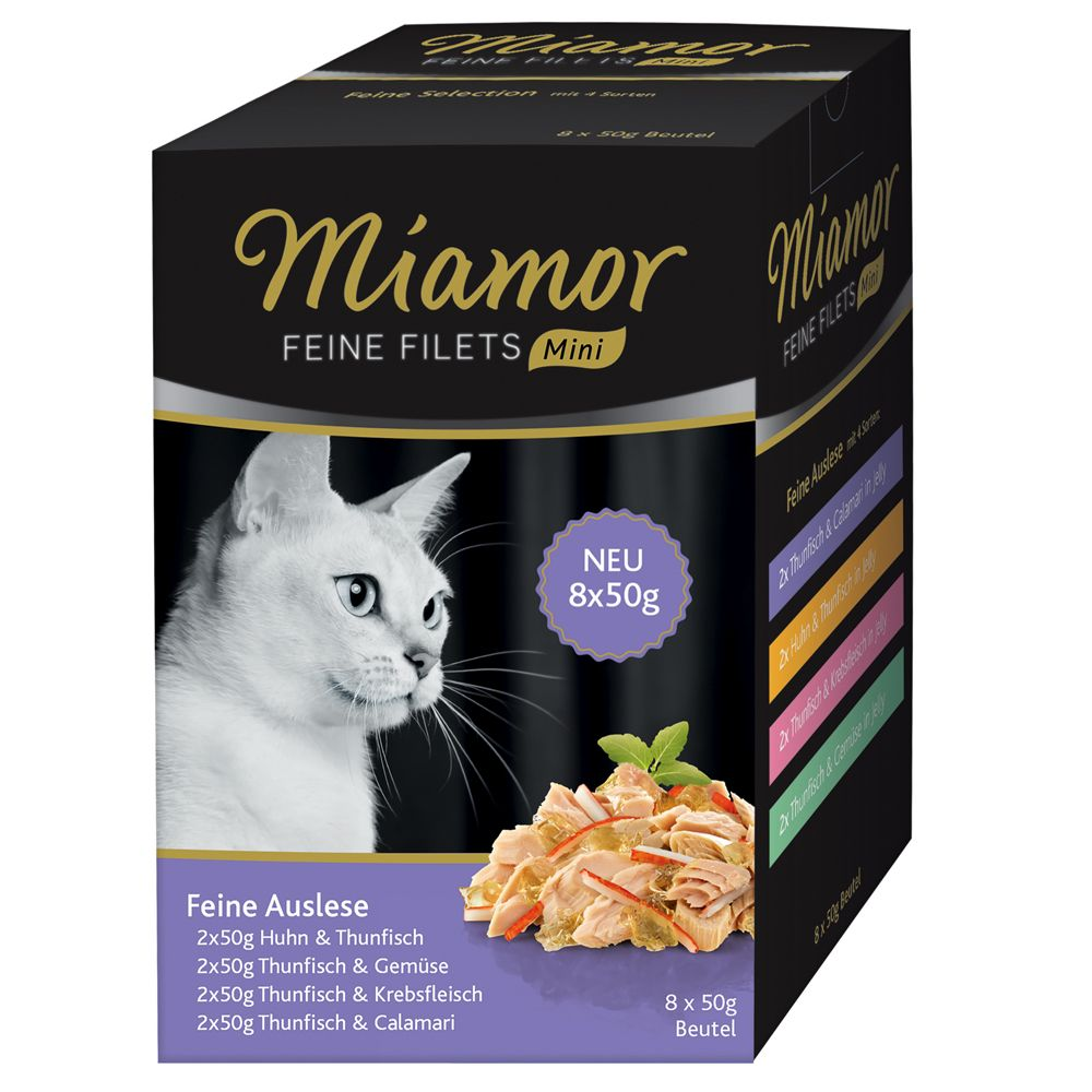 Miamor Fine Fillets Mini Pouch Multipacks 8 x 50g