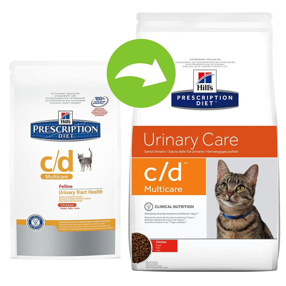 Foto Hill's Prescription Diet Feline c/d Multicare Pollo - secco - % 2 x 10 kg Reni e vie urinarie