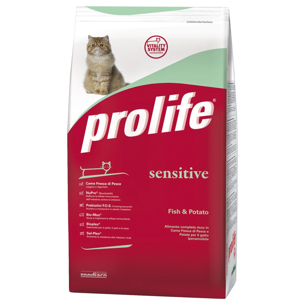Foto Prolife Cat Sensitive Pesce & Patate - 2 x 12 kg - prezzo top! BeFood