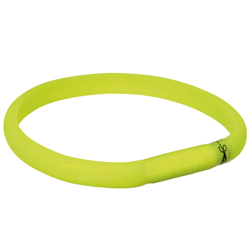 Trixie USB Flash Light Collar Green L-XL