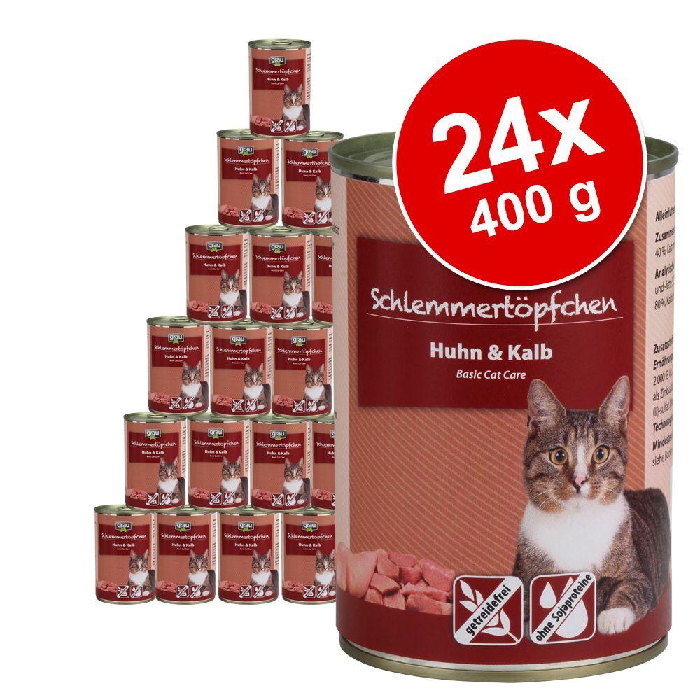 Foto Grau Grandi Golosi Senza Cereali 24 x 400 g - Coniglio, Manzo e Anatra Set risparmio