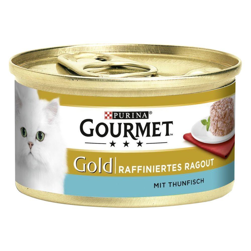 24x85g Chicken Gourmet Gold Refined Ragout Wet Cat Food