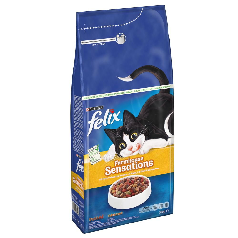 Felix Farmhouse Sensations Dry Cat Food with Poultry