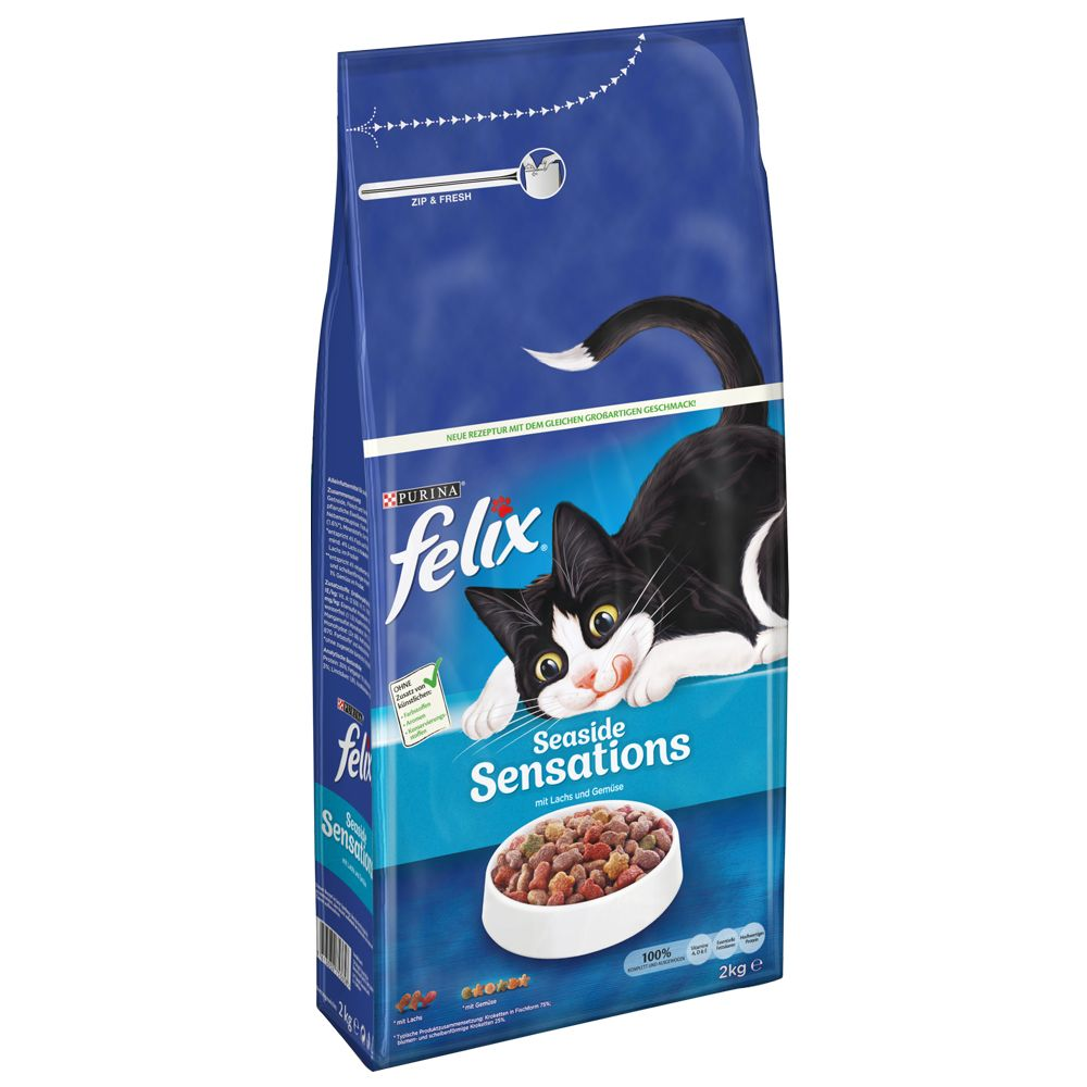 Fai scorta! 3 x 2 kg Felix Sensations Seaside Sensations con salmone