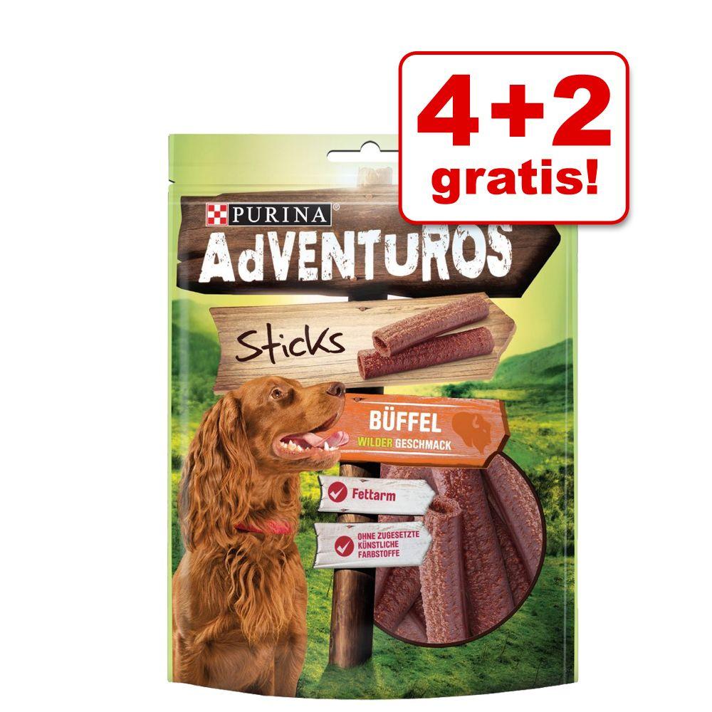 Image of 4 + 2 gratis! 6 x AdVENTuROS Hundesnacks - Mini Sticks (6 x 90g)
