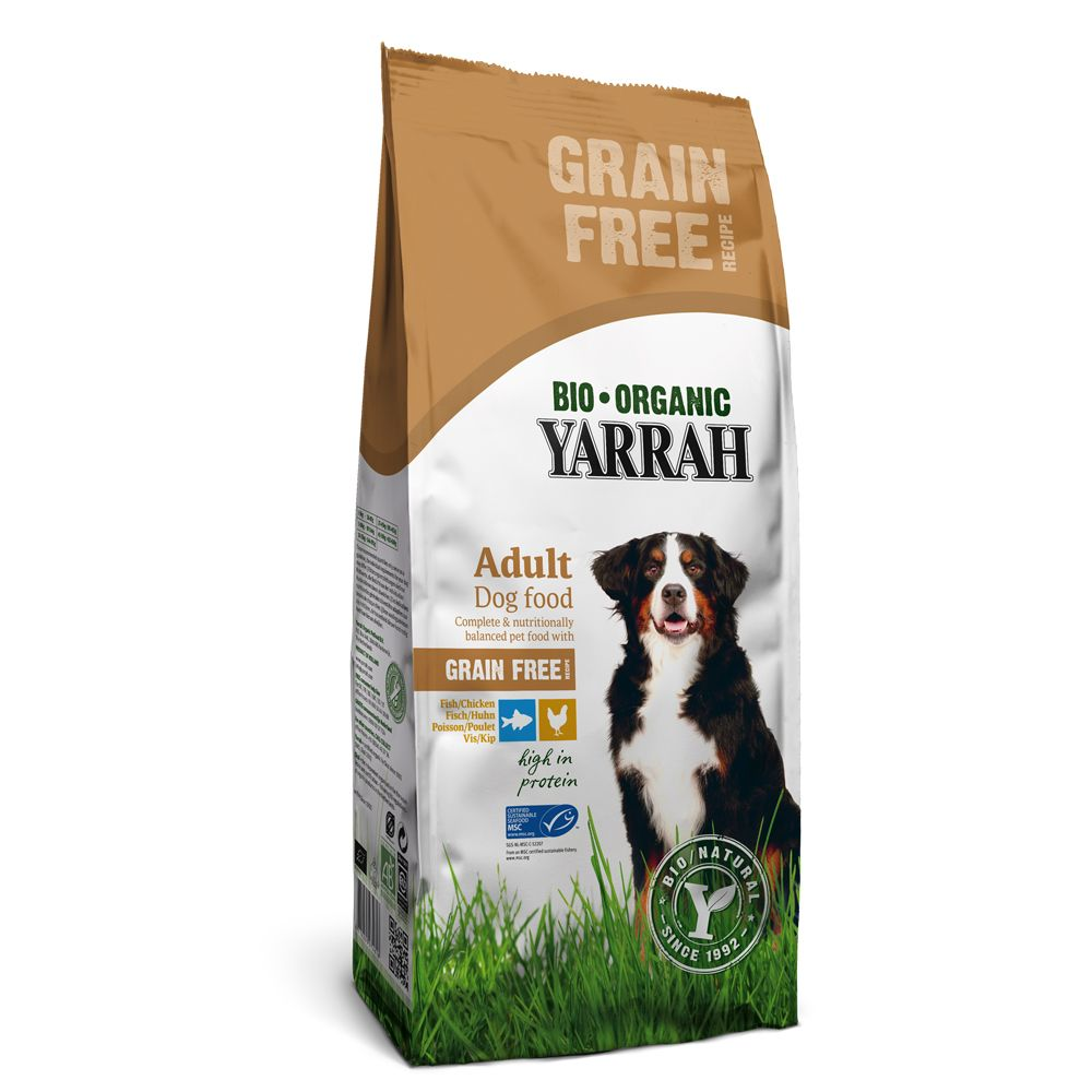 Yarrah Organic Grain-Free with Chicken & Fish - Economy Pack: 2 x 10kg