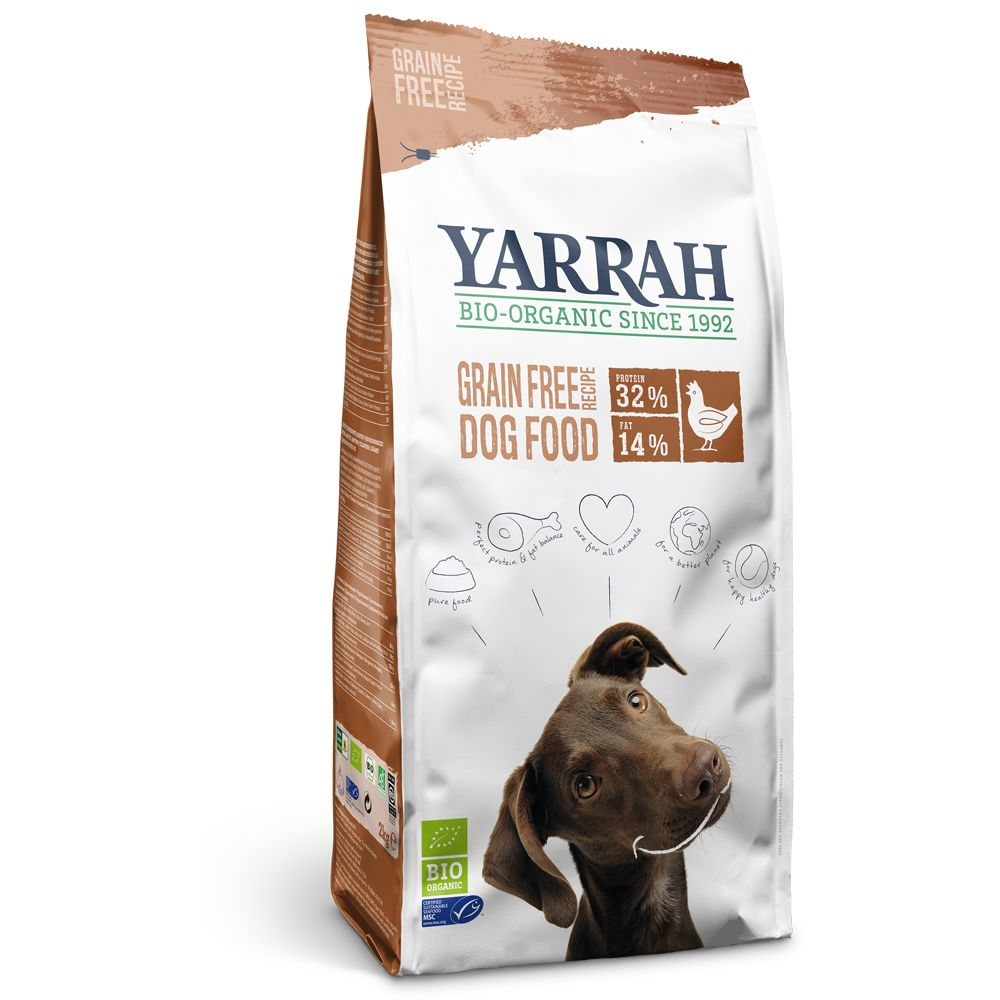 Yarrah Organic hundfoder spannmålsfritt - Ekonomipack: 2 x 10 kg