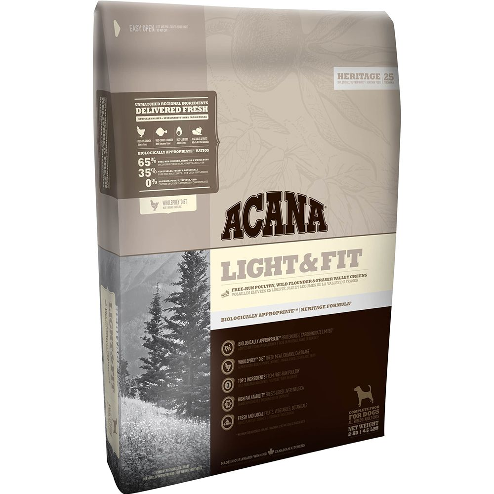 Acana Light & Fit Dry Dog Food - 11.4kg