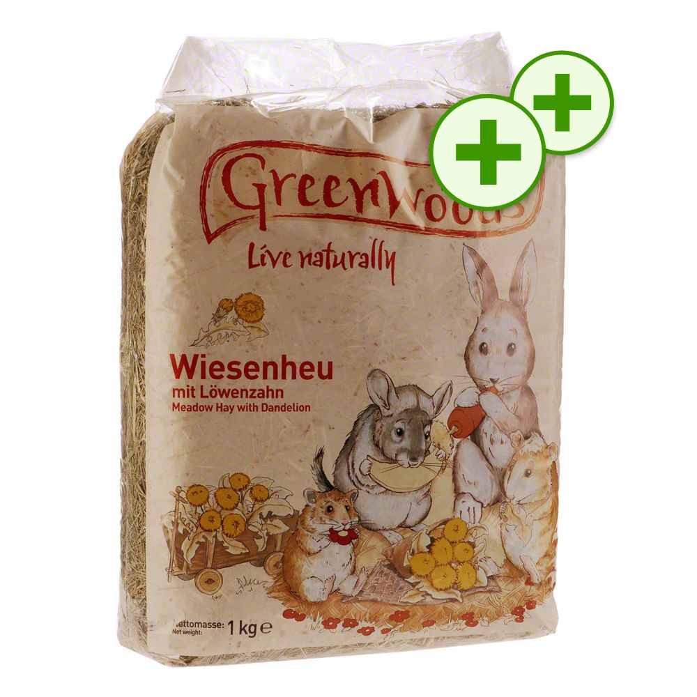 Image of Doppi Punti Fedeltà: 1 kg Fieno di prato Greenwoods - 1 kg Tarassaco