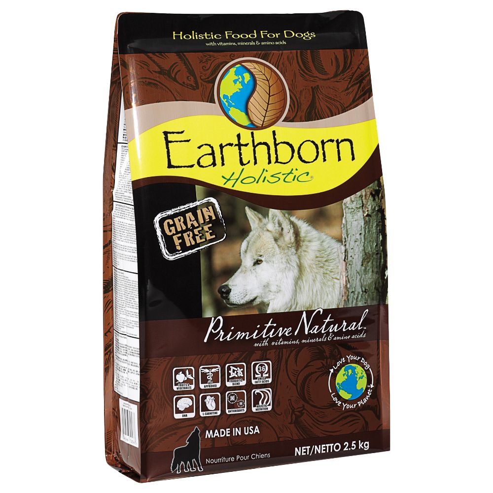 Earthborn Holistic Dry Dog Food Mixed Trial Pack - 3 x 2.5kg