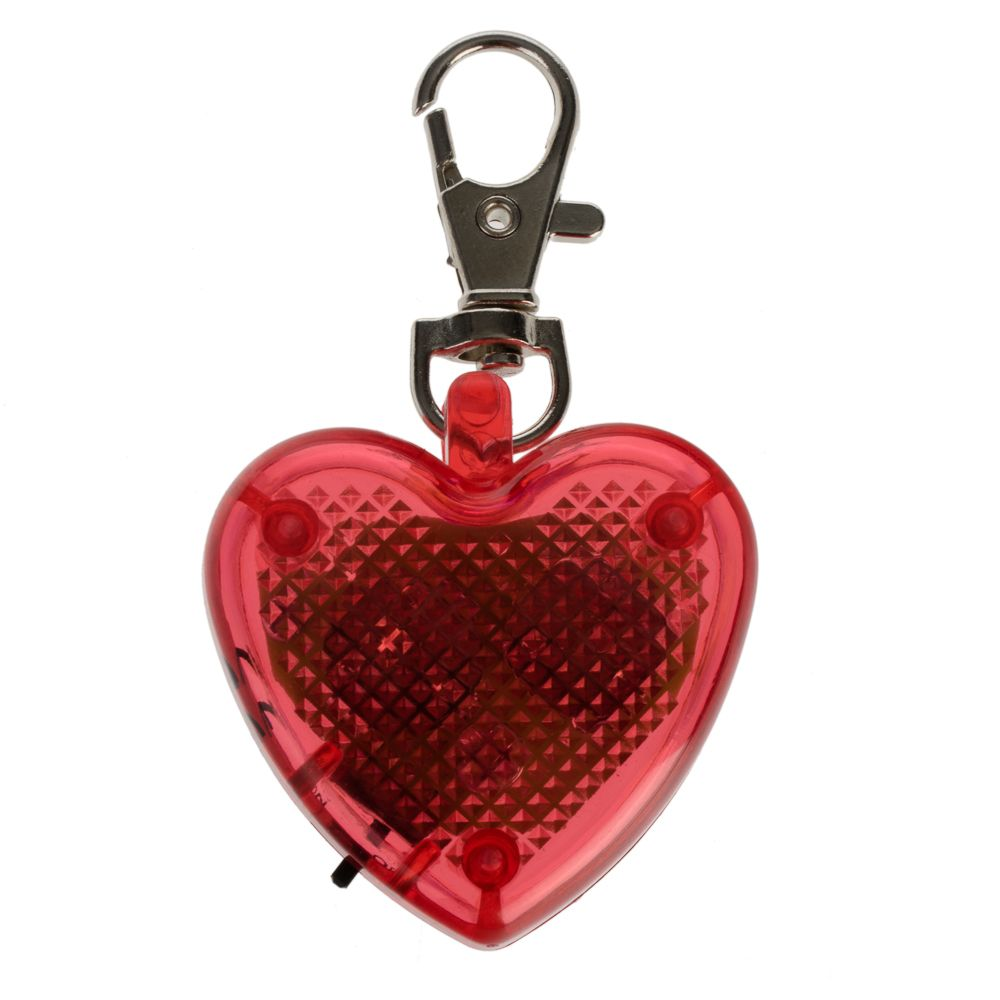 Safety Light Attachment - Heart (red)
