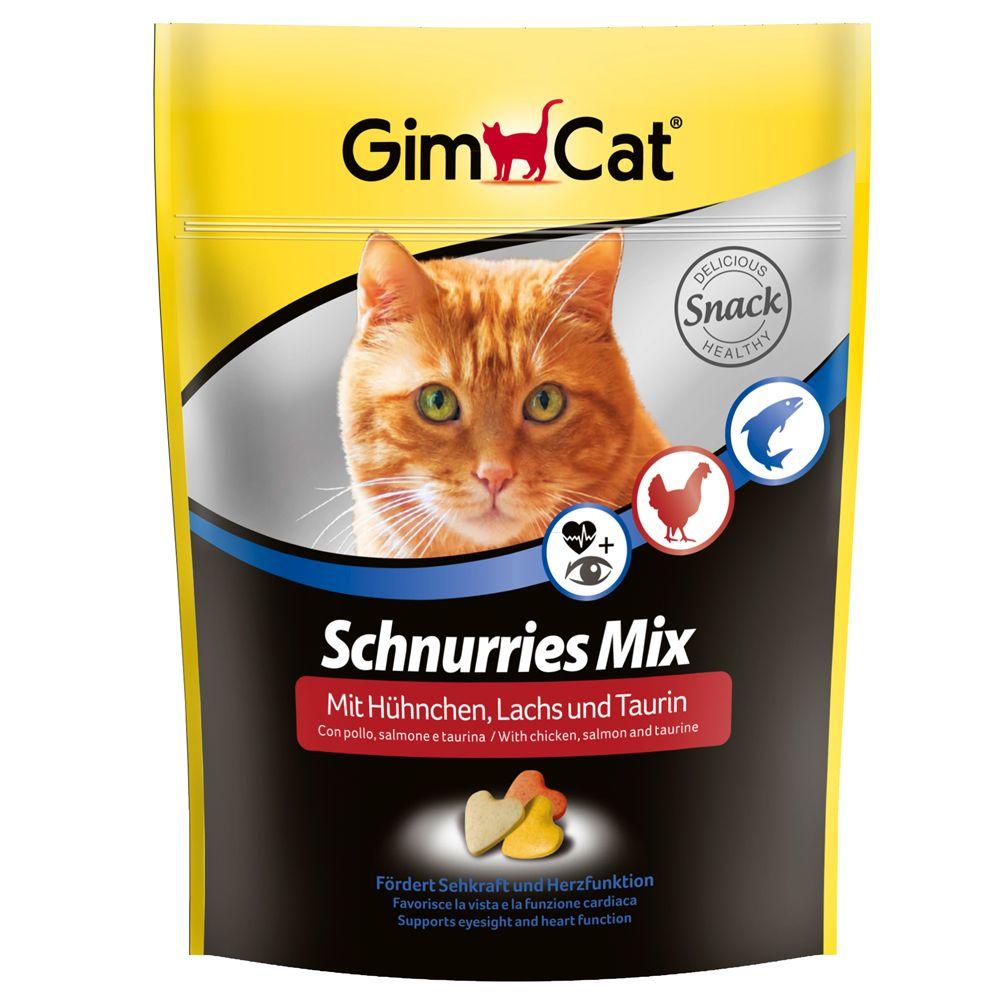 Gimpet Schnurries with Taurine, Chicken & Salmon - Saver Pack: 3 x 140g