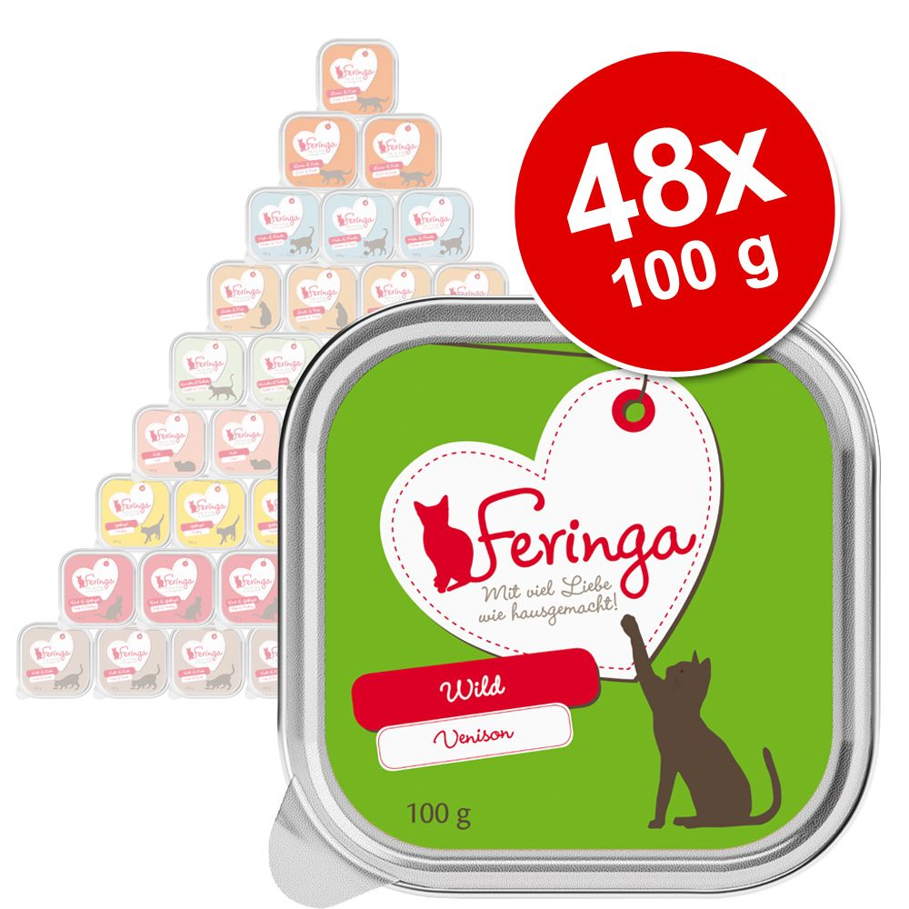 Ekonomipack: Feringa portionsform 48 x 100 g Lax & kalkon