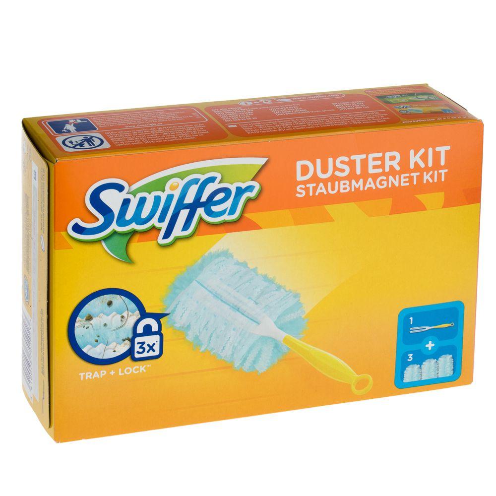 Swiffer Staubmagnet Kit + 3 Tücher - 1 Set