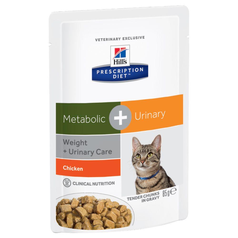 Hill's Prescription Diet Feline Metabolic + Urinary Chicken - 12 x 85 g