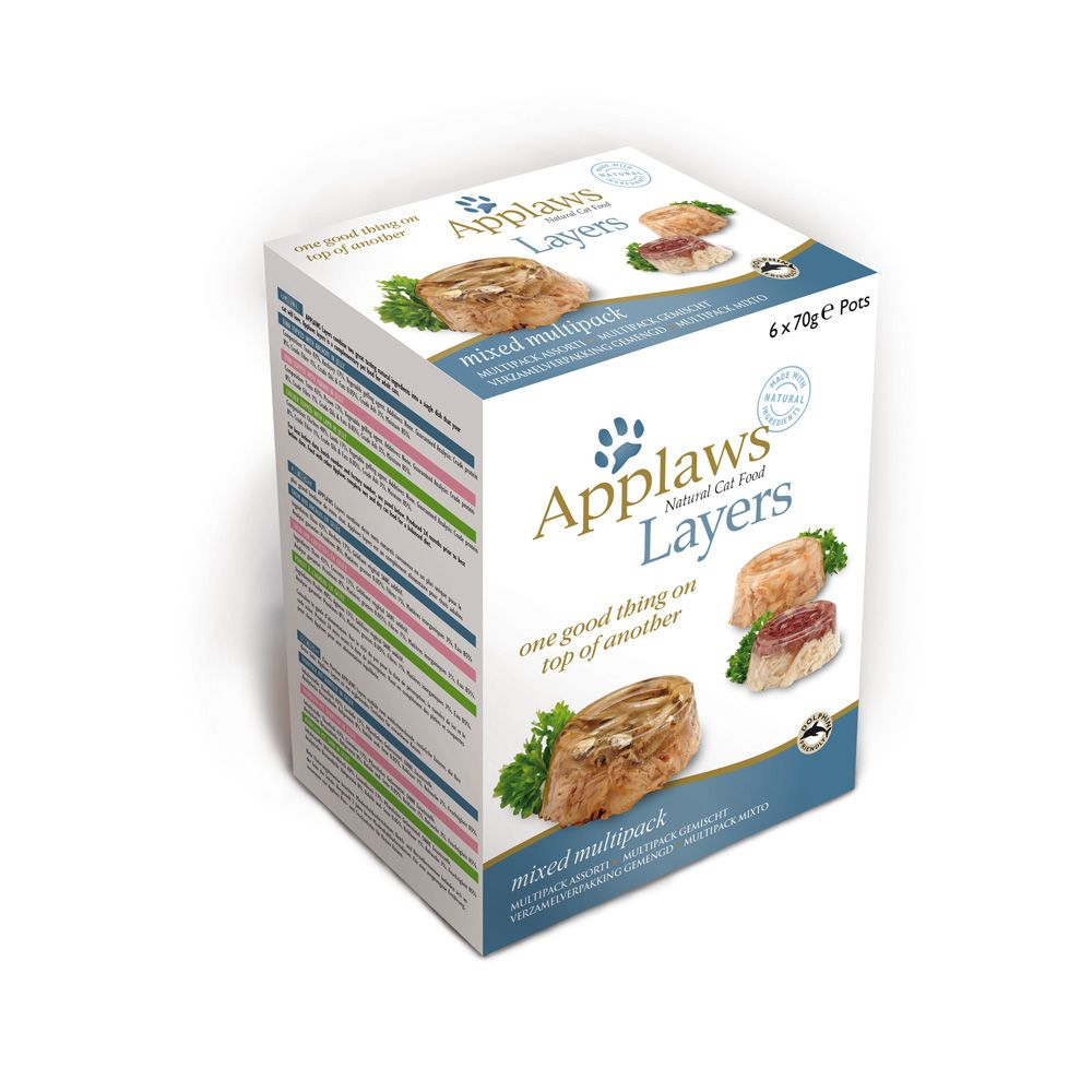 Applaws Cat Layers Mixed Multipack 70g - Mixed Pack 6 x 70g