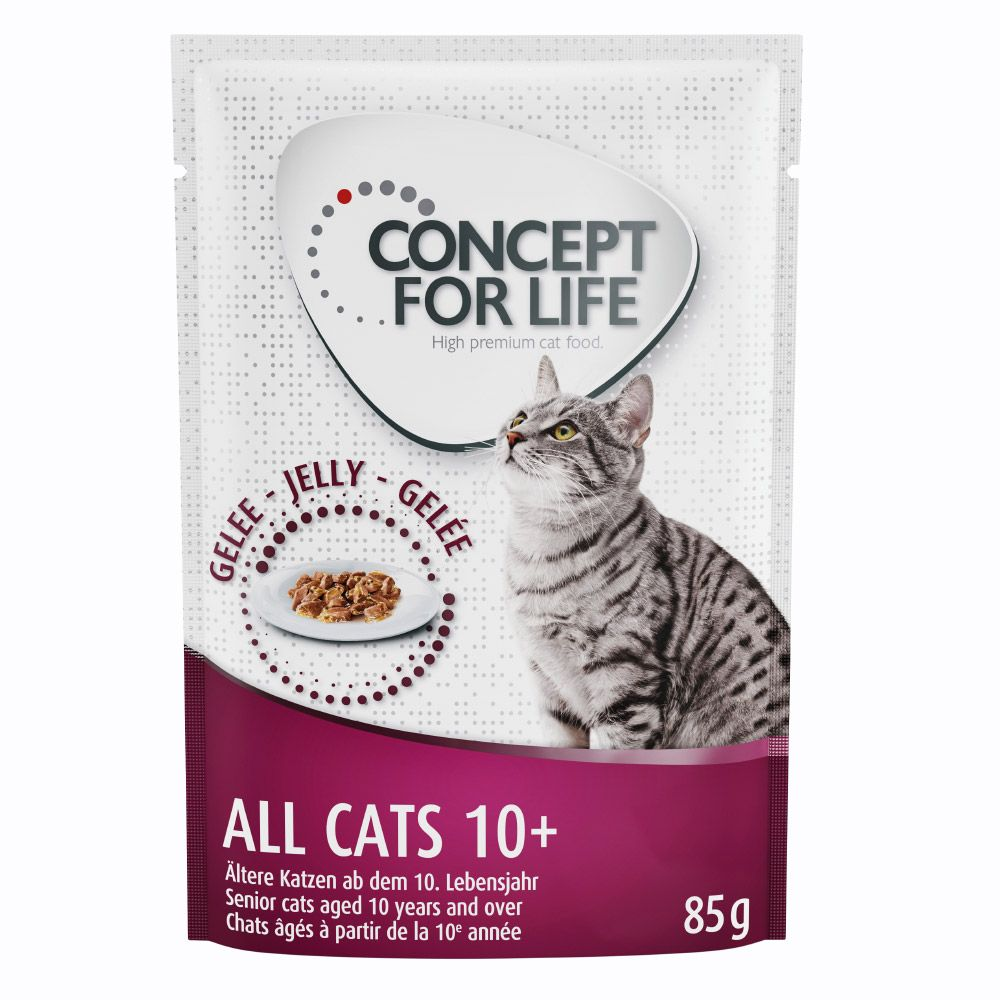 Concept for Life All Cats 10+ - i gelé - 24 x 85 g