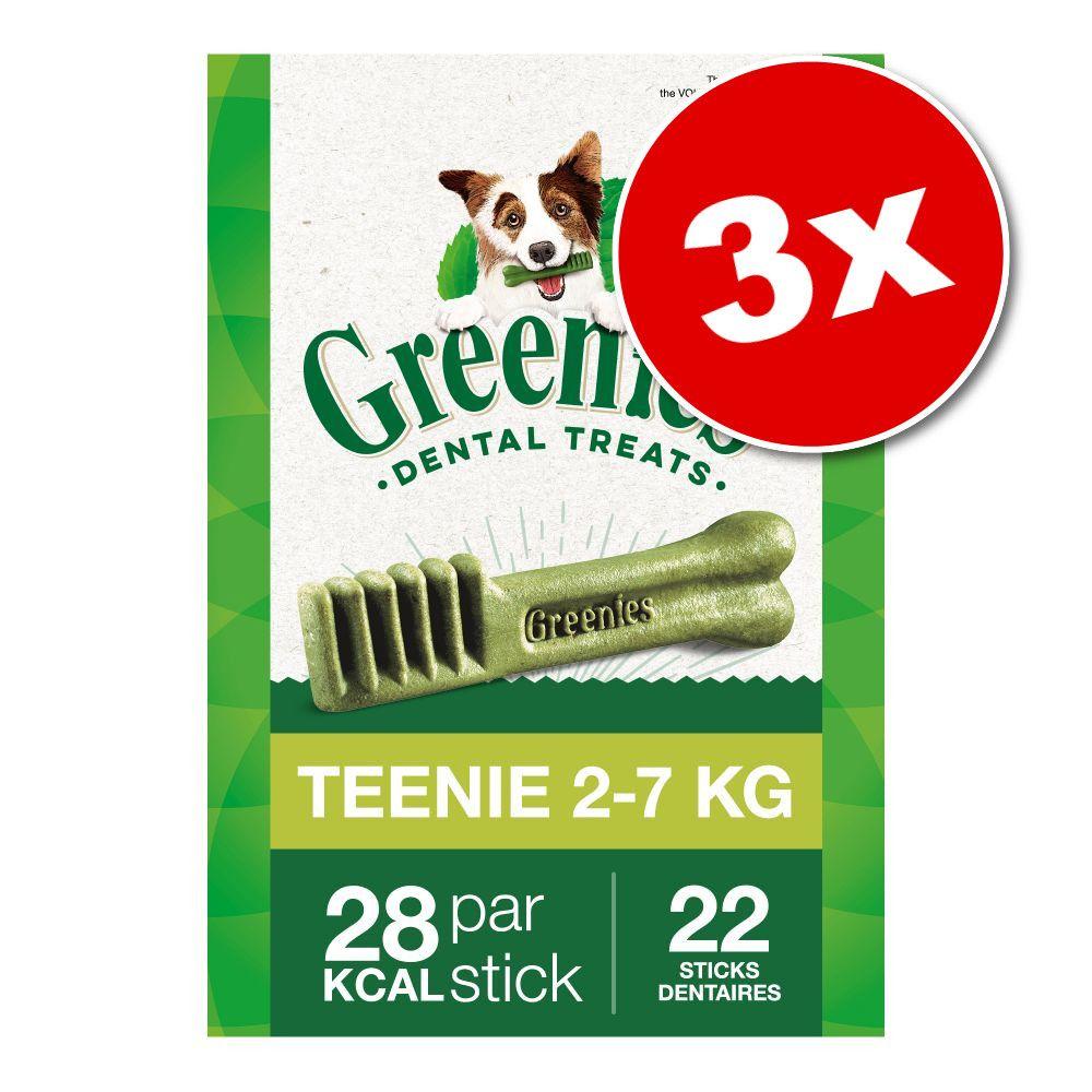 Lot Greenies, Teenie (3 x 340 g / 129 friandises) - Soin dentaire pour chien