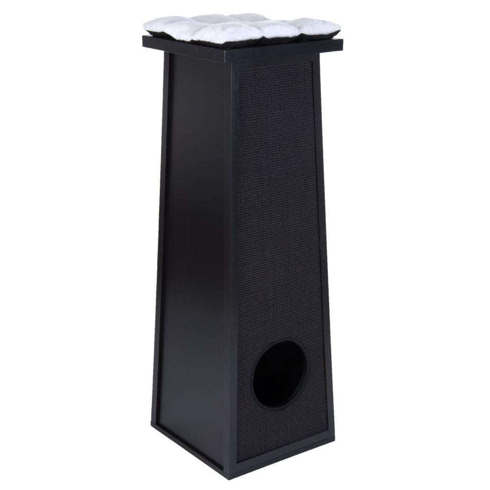 Skyline Felidae's Palace Antonio Scratching Barrel - Black