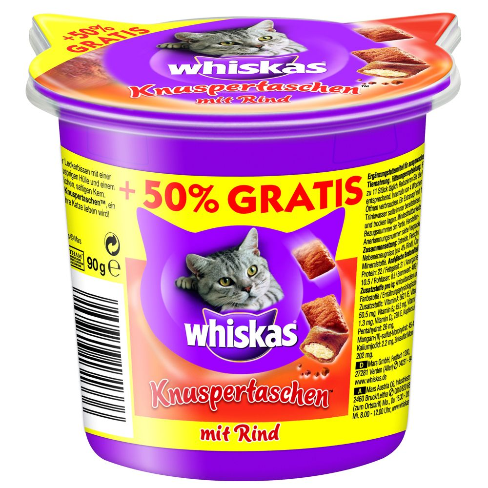 90g Whiskas Temptations Cat Treats