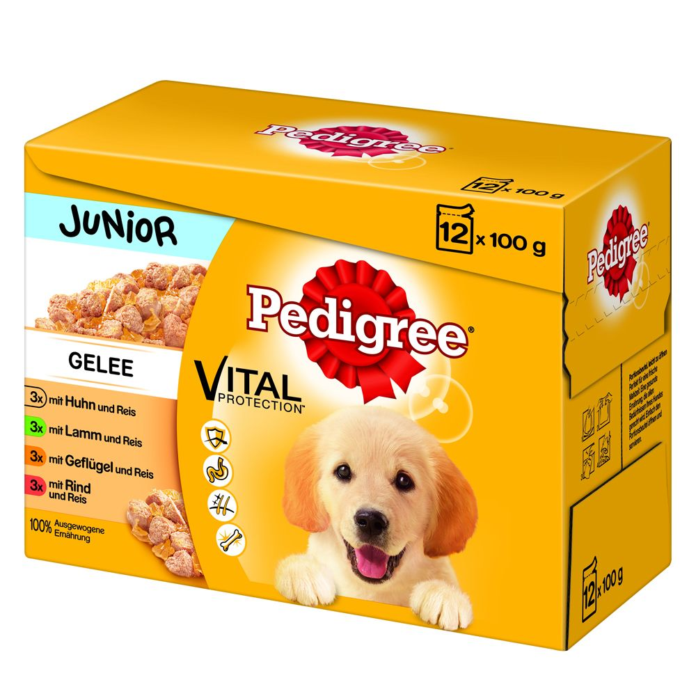 Pedigree Junior Pouch Multipack i gelé – 96 x 100 g