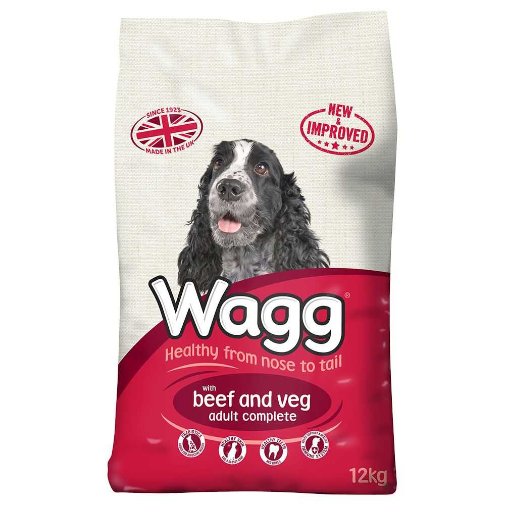 Wagg Complete Beef & Veg - Economy Pack: 2 x 12kg