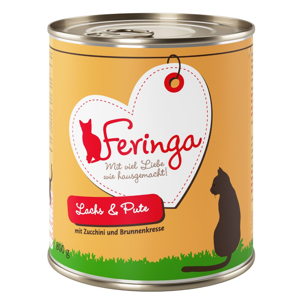 12 x 800g Feringa Menu Duo + Winter Reindeer Cat Dangler Free