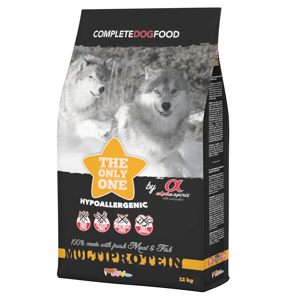 The Only One Alpha Spirit Multiprotein hundfoder - Ekonomipack: 2 x 12 kg