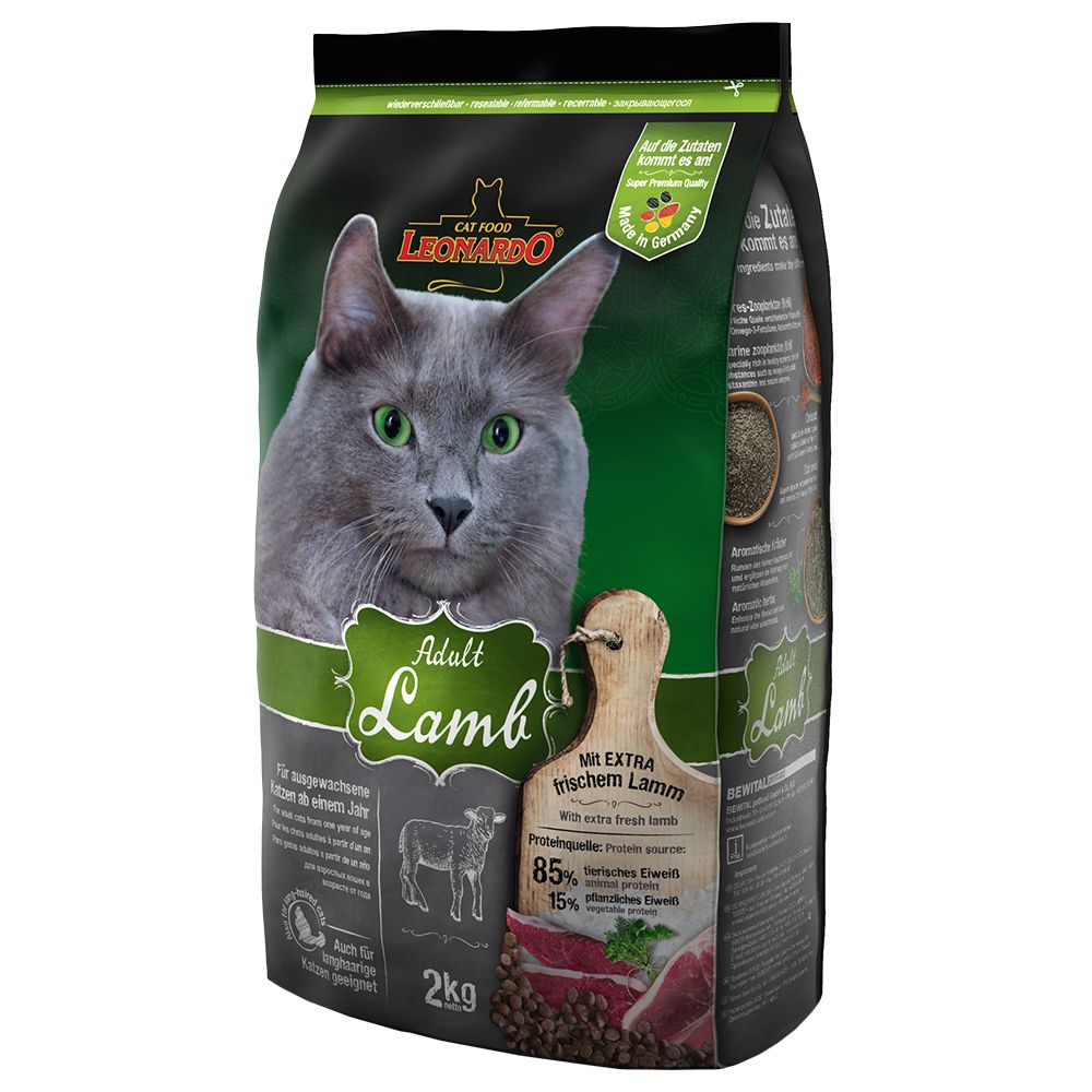 INOpets.com Anything for Pets Parents & Their Pets Leonardo Adult Lamb Dry Cat Food - 7.5kg