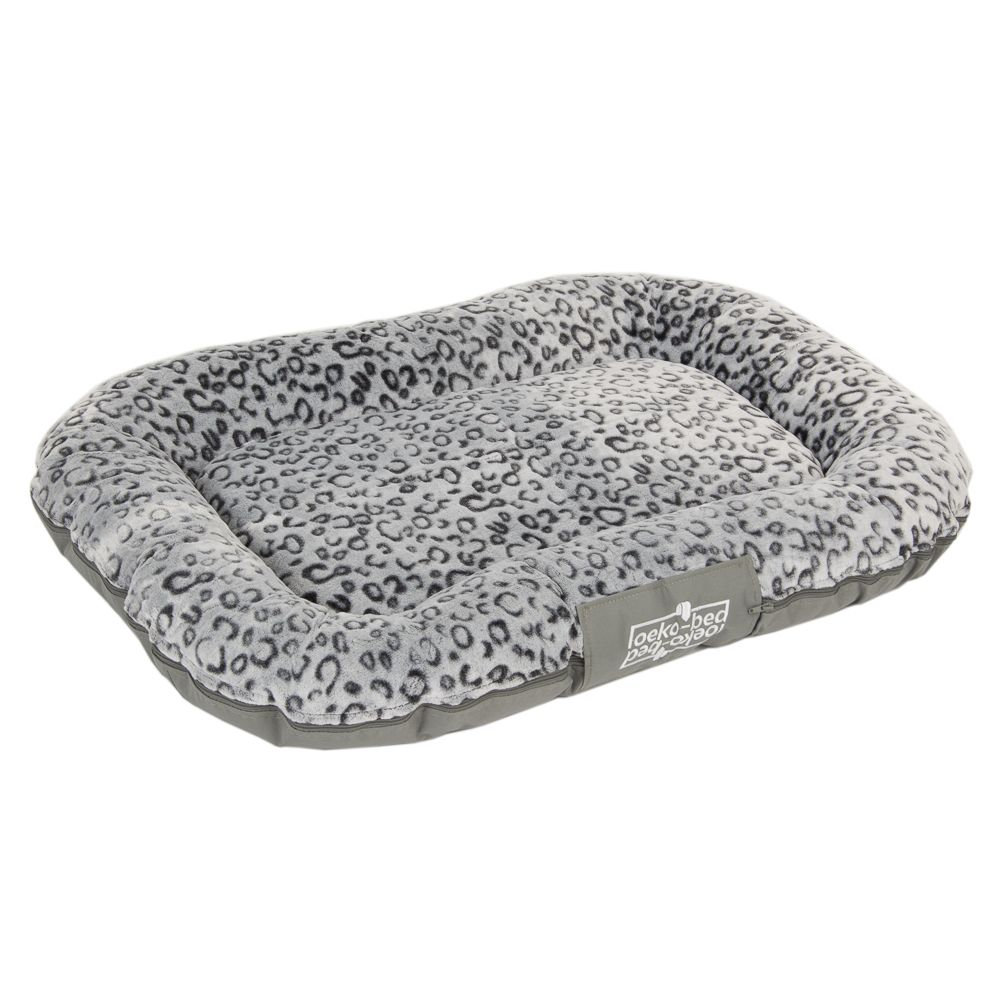 Oekobed Dog Pillow in plush - Leopard Print - Size L: 120 x 90 x 16 cm (L x W x H)