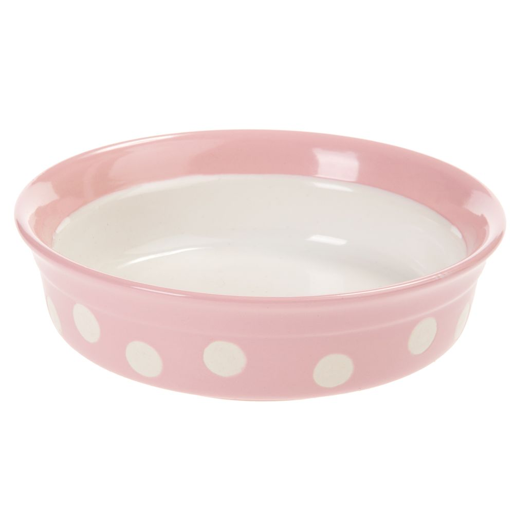 Rosewood Ceramic Bowl Pink Polka Dot Best Deals Small