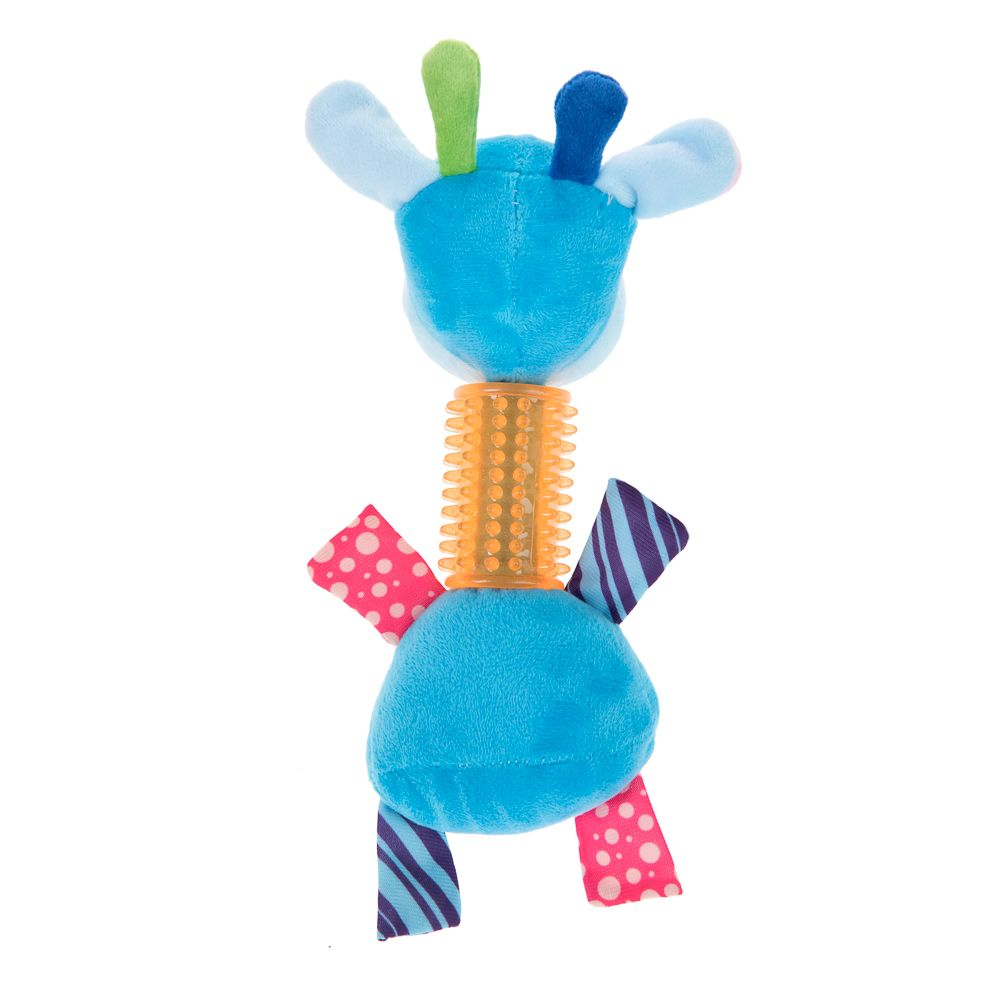 zoolove Sam Giraffe with TPR Neck Puppy Toy