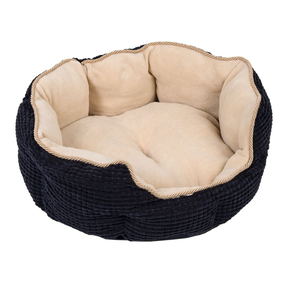 Cozy Kingdom Snuggle Bed Black / Beige