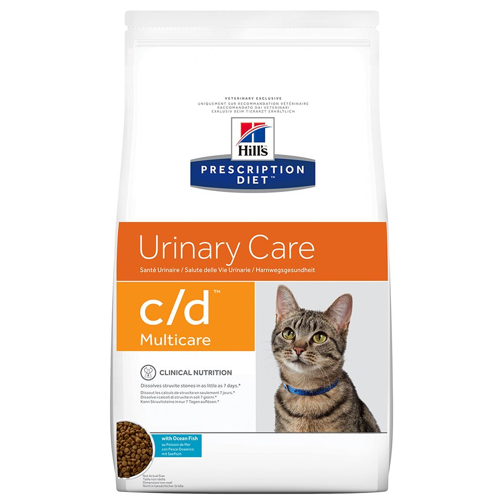 Hill's Prescription Diet Feline c/d Urinary Multicare Ocean Fish - Ekonomipack: 2 x 5 kg