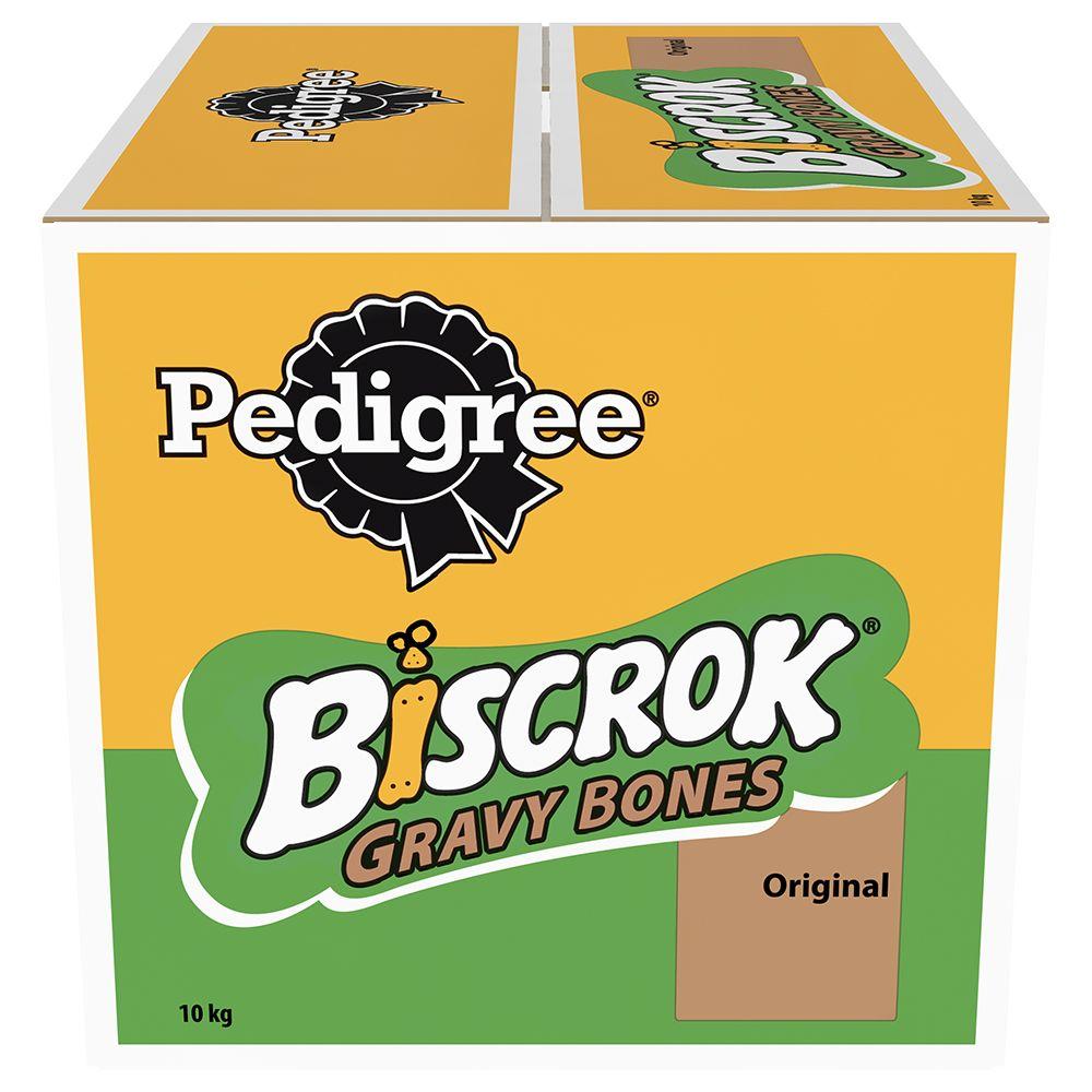 Image of Pedigree Biscrok Gravy Bones Biscuits Dog Treats 10 kg - Chicken