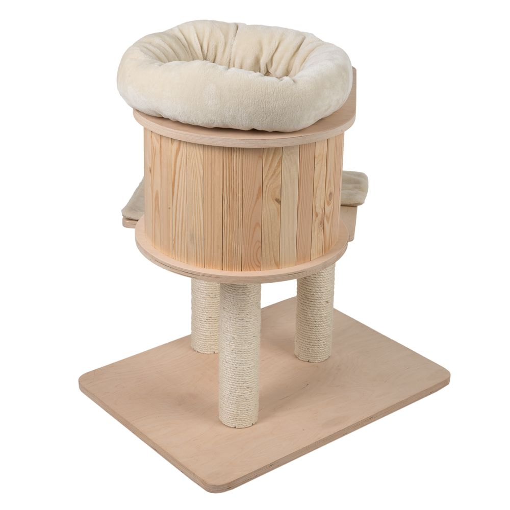 The Natural Paradise Cat Tree – Mini is a small, compact cat tree and ideal for smaller spaces. The neutral colours will fit in and compliment your home, whatever ...
