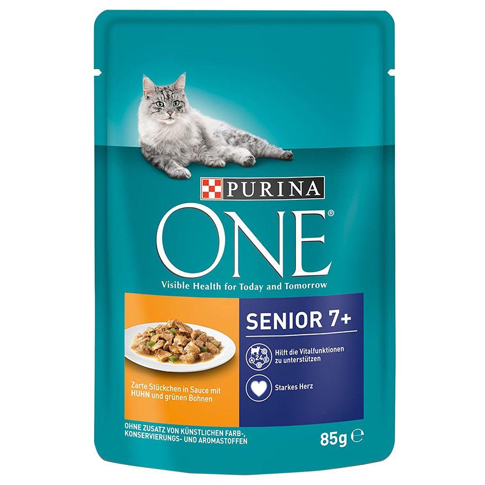 Purina ONE Senior 7+ Kyckling 6 x 85 g Senior 7+ Kyckling