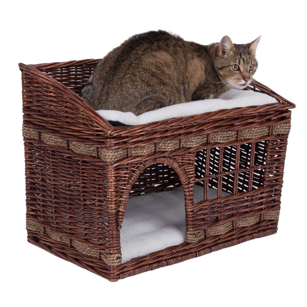 Pueblo Cat Den - Wicker Woven