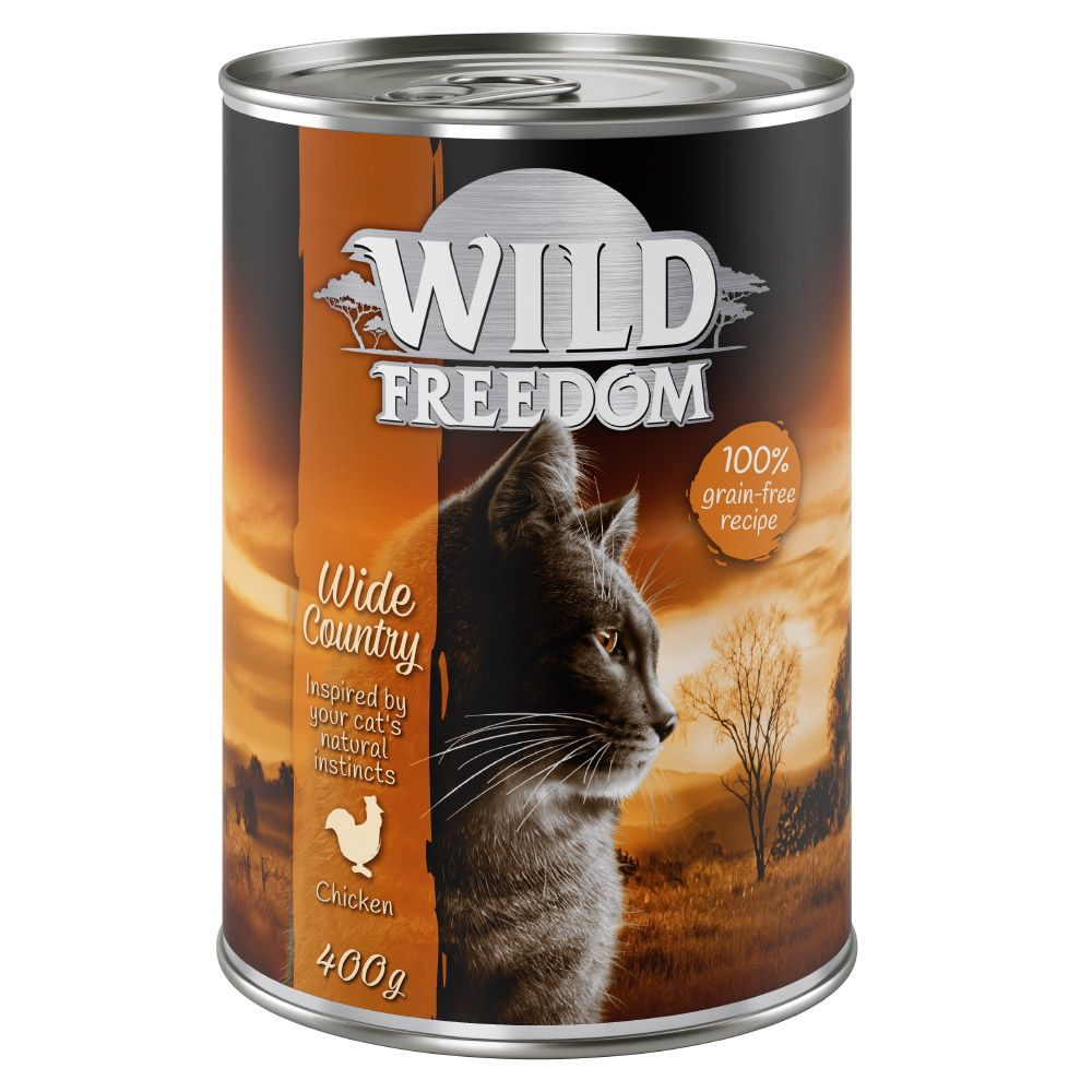 24x400g Deep Forest Game & Chicken Wild Freedom Wet Cat Food