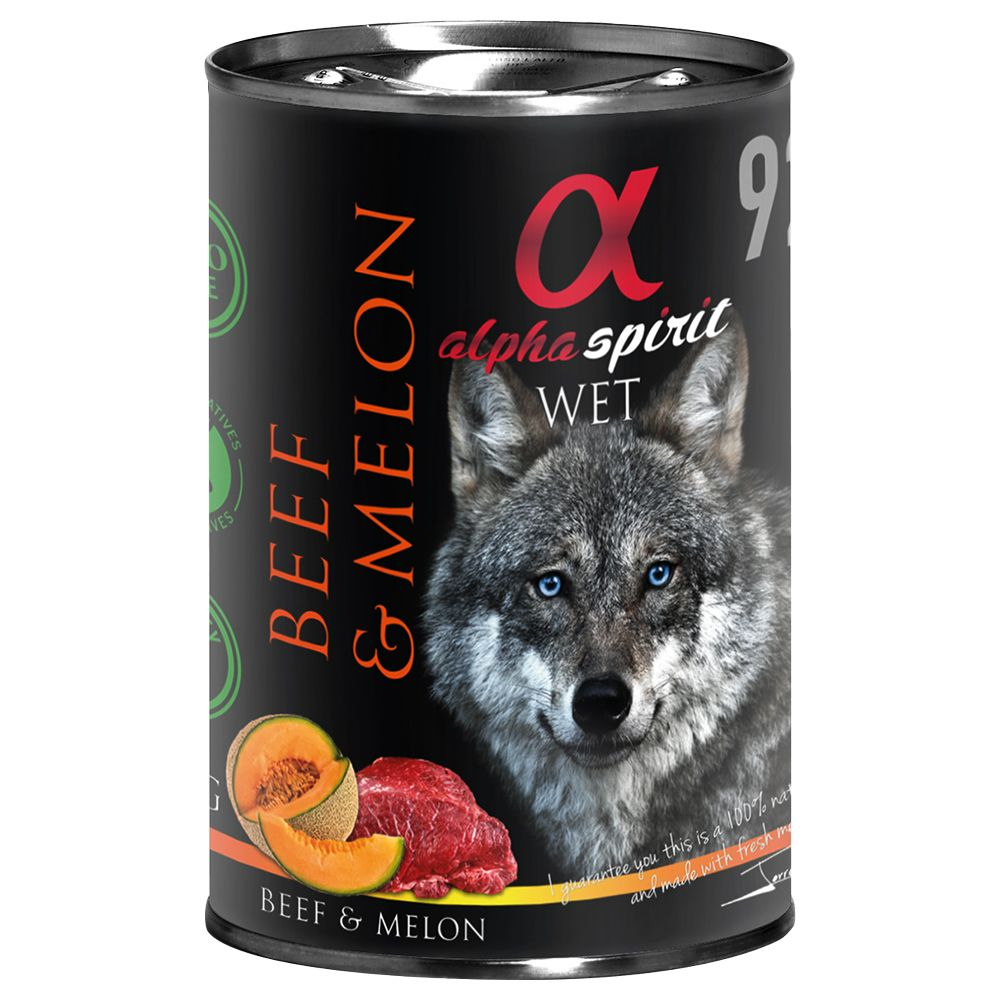 12x400g Salmon with Blueberry Alpha Spirit Wet Dog Food