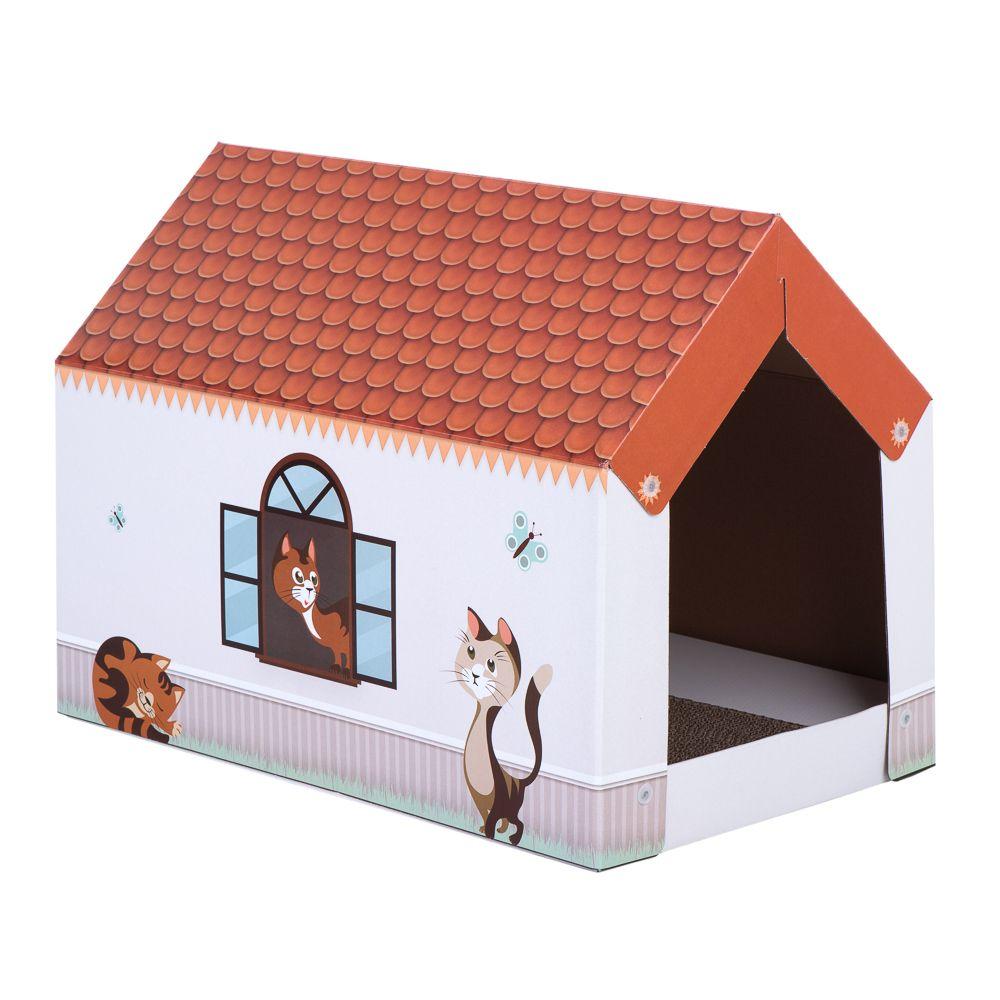 Home XL katthus med klösbräda L 58 x B 36 x H 41 cm