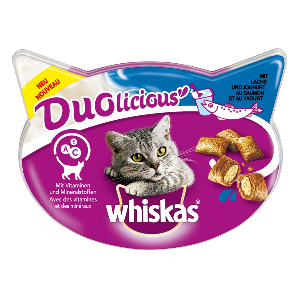 Whiskas Duolicious - Ekonomipack: Kyckling & yoghurt 6 x 66 g