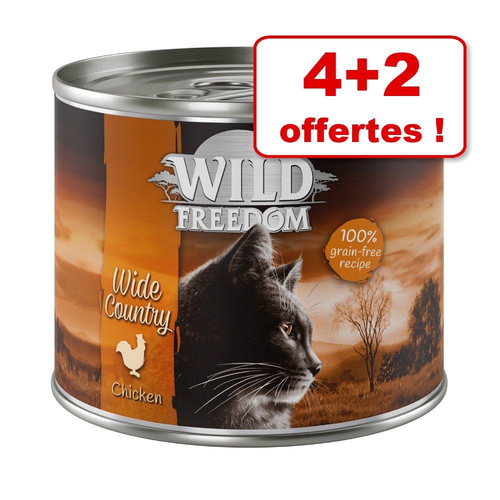 6x200g Kitten : lot mixte Wild Freedom pour chat + 2 boîtes offertes !