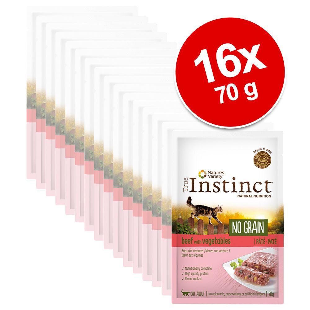 Nature's Variety True Instinct No Grain Paté 16 x 70 g gatos - Pack Ahorro - Selección de pescados y verduras