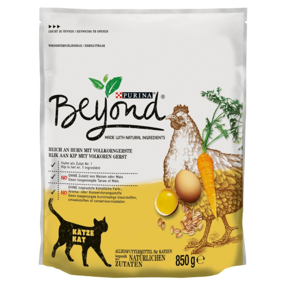 3x1.4kg Chicken with Whole Barley Purina Beyond Adult Dry Cat Food