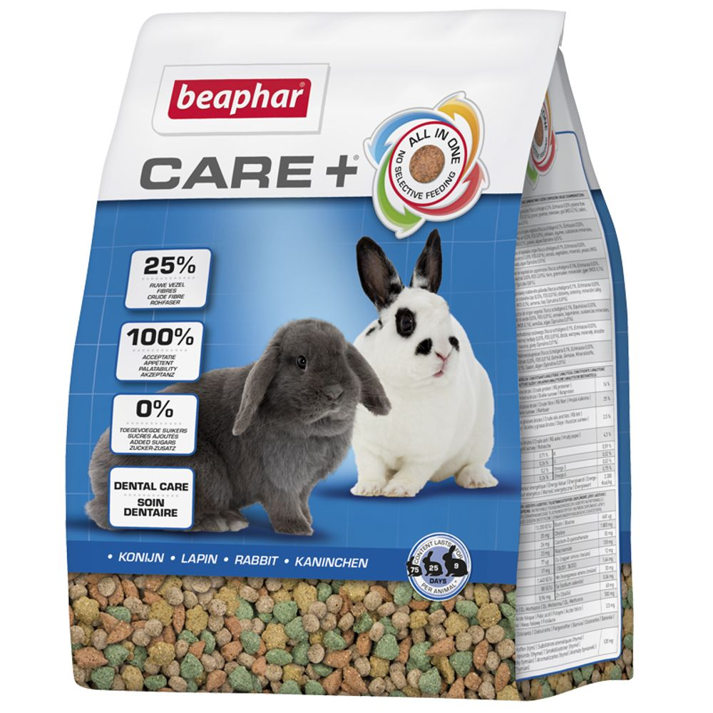 2 x 5kg Care+ Kaninchen Beaphar Kaninchenfutter 8711231130023