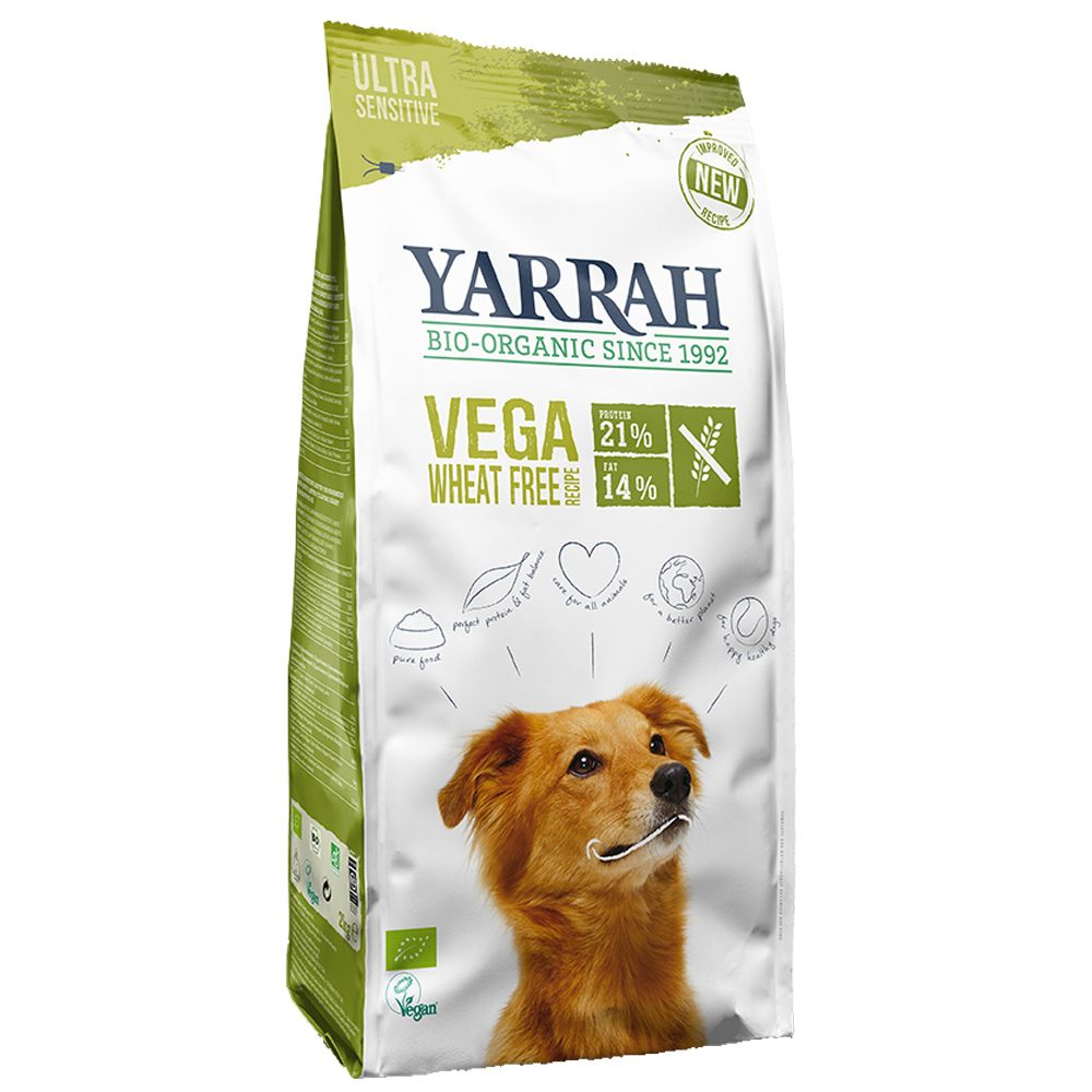 Yarrah Organic Vegan Wheat-Free is a digestible and tasty complete dog food. With this vegan dry dog food, you will be able to feed your dog a balanced and nutriti...